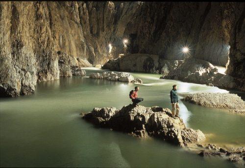 Canyon, les Grottes de Skocjan en Slovénie. Photo: ©Borut Lozej