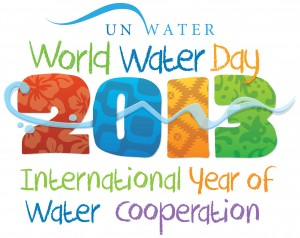 Official logo for the World Water Day 2013