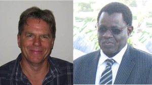 On the left: Dr Briggs, new Ramsar Secretary General. On the right: Mr Tiega, Ramsar Secretary General for the last six years