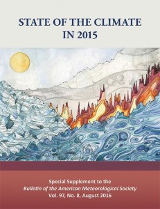 Cover for the State of the Climate in 2015 report-august2016