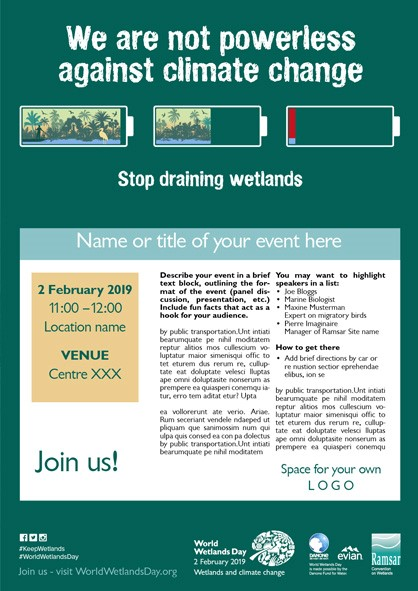 World Wetlands Day 2019: Wetlands and climate change — Medwet